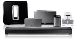 Wireless speakers and home theater sound systems
